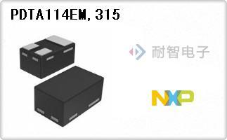 NXP公司的单路�o预偏压式晶体管-PDTA114EM,315