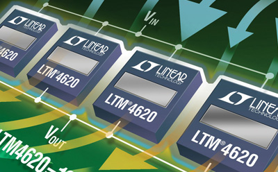 凌力尔特公司(Linear)推出两个 40V、4.5A DC/DC 转换器